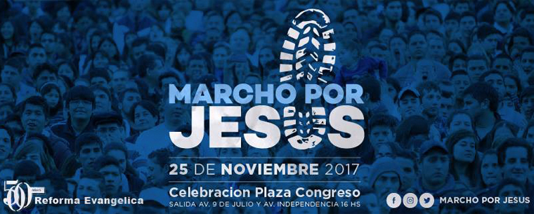 Se realizará en Buenos Aires #YoMarchoPorJesús